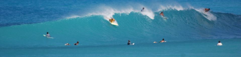 surfing waves at apple bay tortola