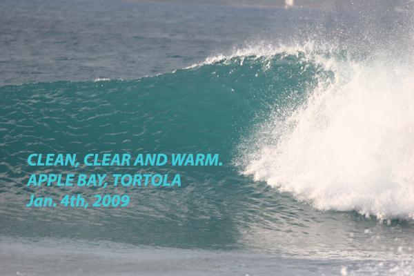 clean ocean water at apple bay tortola